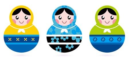 Traditional russian Matshka dolls. Vector Stock Vector - 12481526