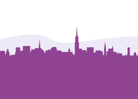 New York City skycrapers silhouette. Vector Illustration. Stock Vector - 12481444