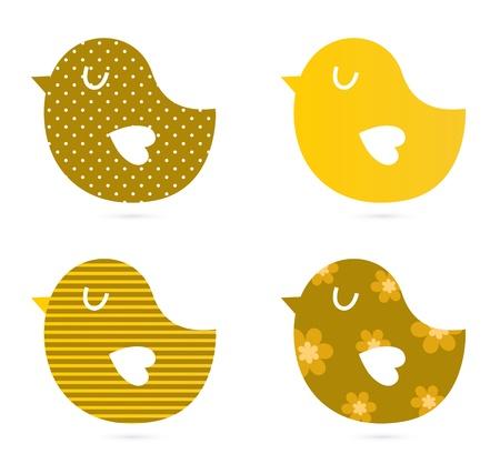 Bird patrón colección. Ilustraciones Vectoriales