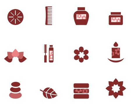 mind set: Zen and wellness symbols. Vector Illustration