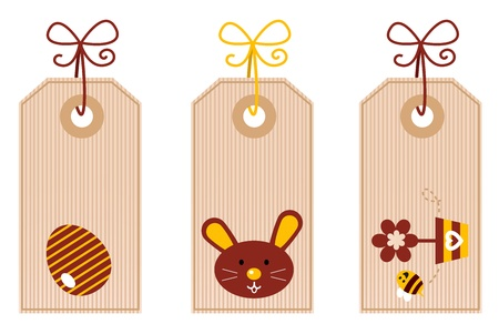 Easter labels collection. Vector Vector