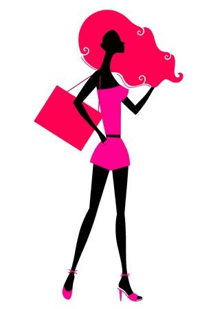 Moda silueta de mujer. Vector