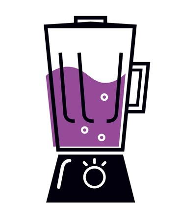 licuadora: Licuadora de cocina aislado en blanco. Vector