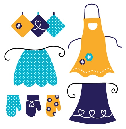 Apron and kitchen accessories Vector