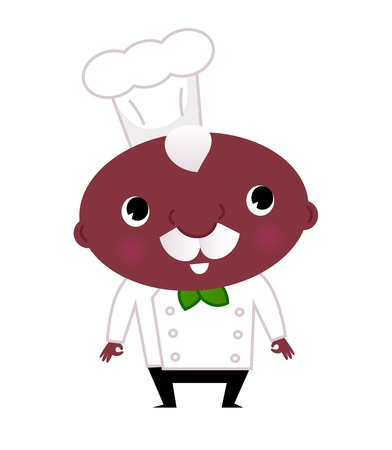 Cute happy cook. Vector
