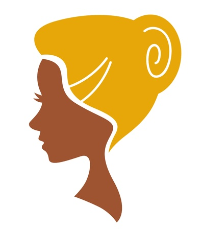 Beauty woman icon. Vector