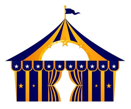 Gestileerde Circus Tent. Vector Illustratie Vector Illustratie
