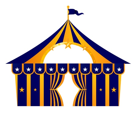entertainment tent: Stylized Circus Tent. Vector Illustration