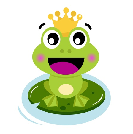 vector cartoon: Frog Prince. Vector cartoon illustrazione