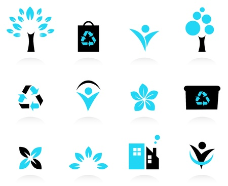 Nature and environment icons. Vector Illustration Stock Vector - 15046672
