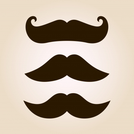 Mustache set. Vector Illustration Illustration
