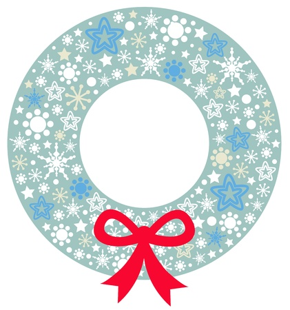 Beautiful christmas wreath.  Illustration  Vector