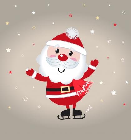Rétro illustration stylisée de l'homme de Santa.