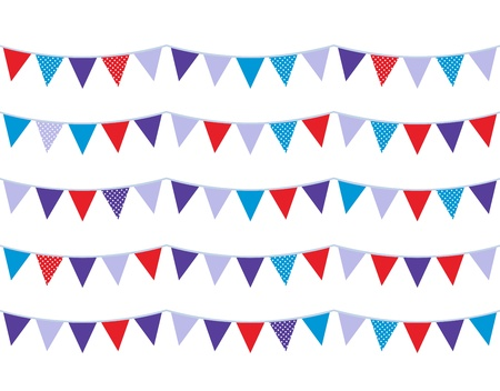 Christmas flags or bunting. Vector illustration Stock Illustratie