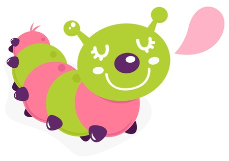 crawl: Colorful caterpillar. Vector cartoon Illustration Illustration