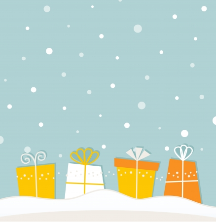 Christmas background with gifts.