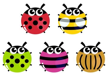 Vaus bugs collection. Vector cartoon Illustration Stock Vector - 17349928
