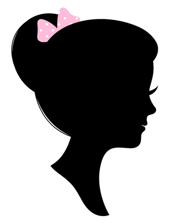 Beautiful female silhouette. Vector Illustration