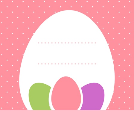 Easter background for your text in pastel colors. Vector Vector