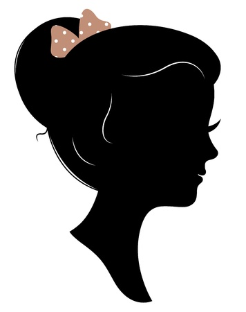 Beautiful girl silhouette. Vector Illustration Vector