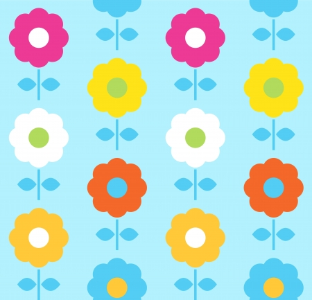 Floral seamless pattern with colorful flowers  Vector