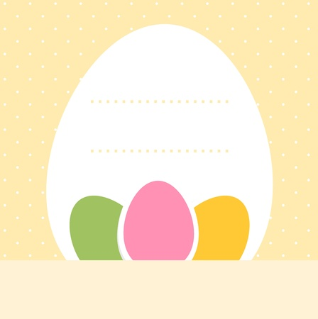 Easter background for your text in pastel colors Stock Vector - 18688405