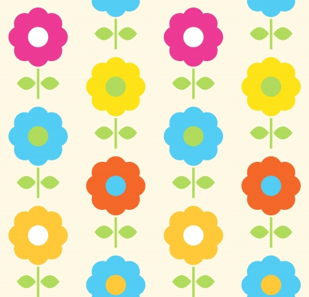 Floral seamless pattern with colorful flowers. Vector Stock Vector - 18931706