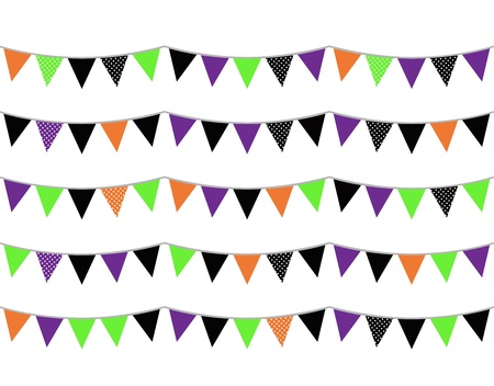 Colorful halloween bunting for your event! Vector Vector