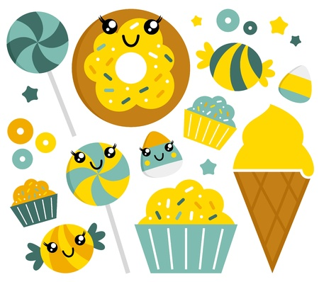 Sweet candy collection Illustration Vector