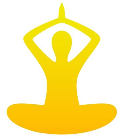 mind body soul: Simple yoga vector silhouette Illustration