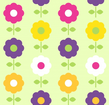 Floral seamless pattern with colorful flowers. Vector Vector
