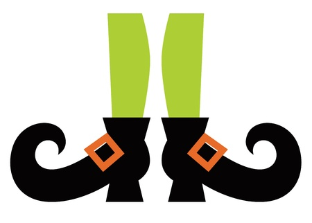 legs stockings: Cartoon witch legs. Vector Illustration Illustration