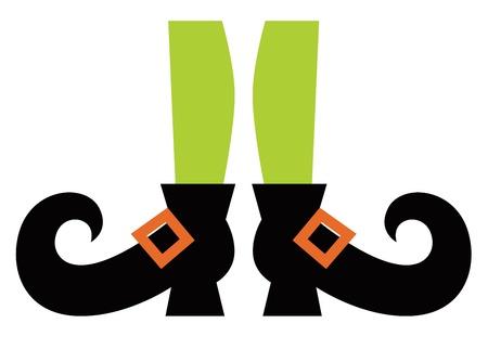 legs stockings: Gambe strega cartone animato. Illustrazione vettoriale