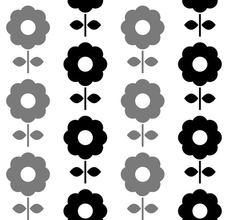 Floral seamless pattern with dark flowers.