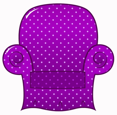 Style chic purple chair icon. Vector Illustration Vector