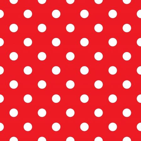 polka dot fabric: Tessuto a pois. Retro vettore sfondo o il motivo Vettoriali
