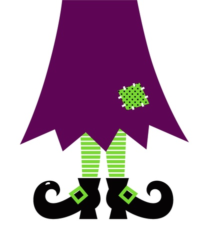 czarownica: Stylizowane retro nogi czarownicy. Ilustracja wektorowa