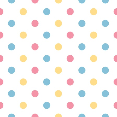 Fresh polka dot seamless background or pattern Vector