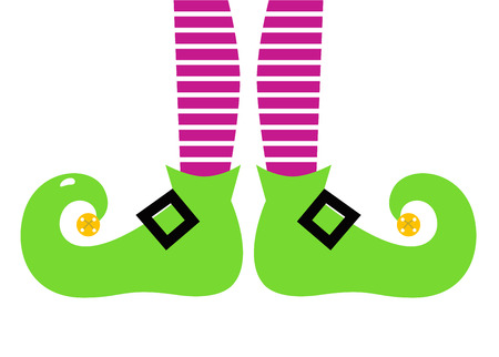 Christmas Elf legs.   Vector
