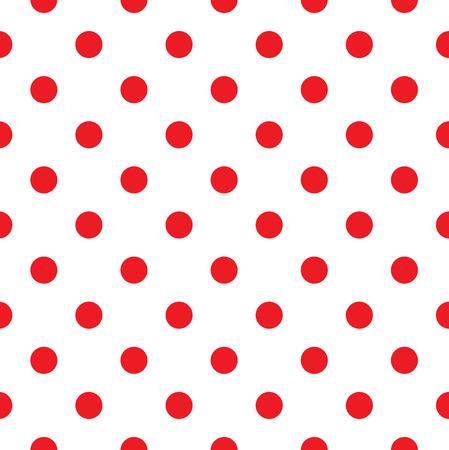 dekorativa mönster: Polka dot tyg retro vektor bakgrund eller mönster