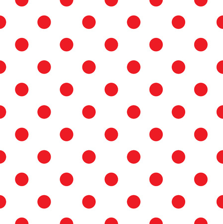 Polka dot fabric  Retro vector background or pattern Vectores