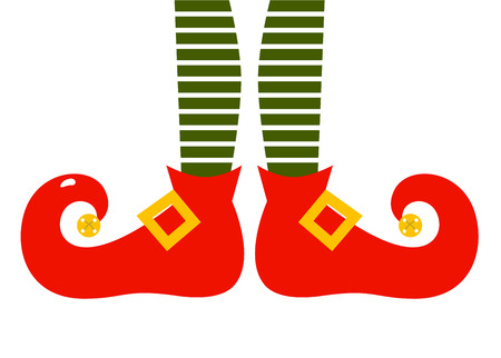 Elvish Legs with striped patterned pants  Vector Illustration
