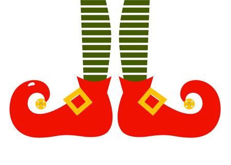 duendes: Piernas �lficas con estampado de rayas pantalones Vector Illustration