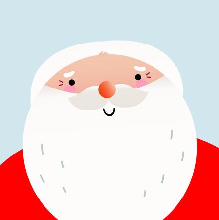 ho: Happy Santa Claus face  Vector Illustration