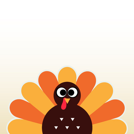 thanksgiving turkey: Happy Thanksgiving day card with copyspace  Vector Illustration
