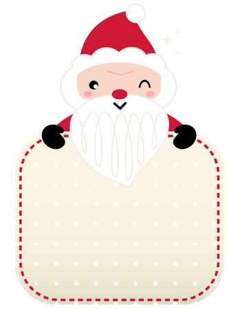 Retro Santa greeting card template Design  Vector Vector