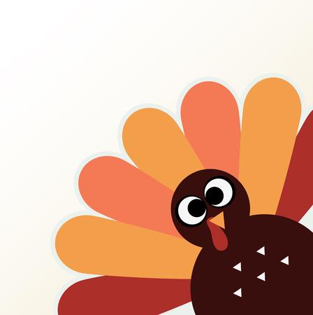 thanksgiving day symbol: Felice giorno del Ringraziamento colorato con divertente illustrazione vettoriale Turchia