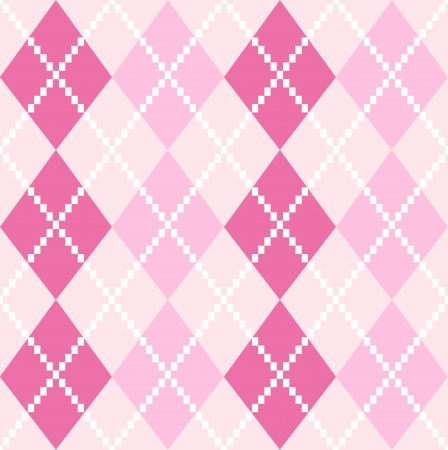 Argyle pattern in pink shades  Vector background Vector