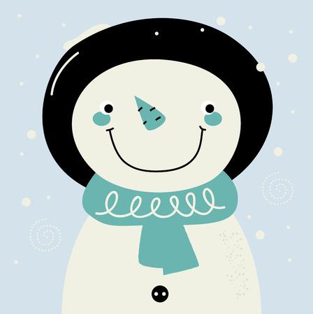 Adorable winter Snowman