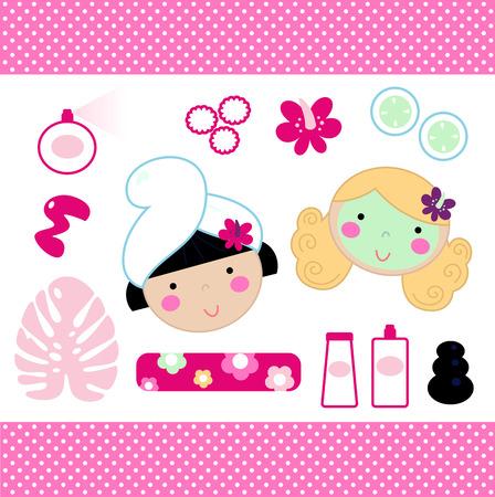 aseo: Colecci�n de belleza y los elementos de dise�o de spa